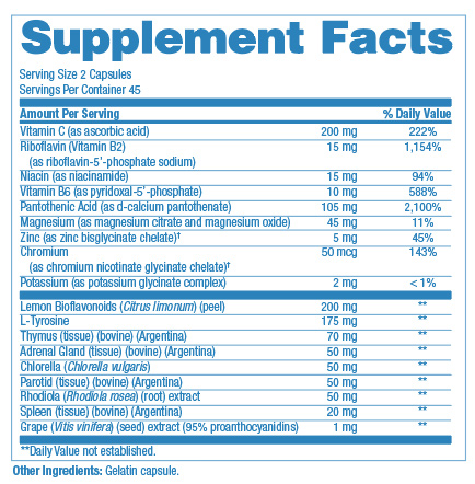 suppfacts adrenal gland